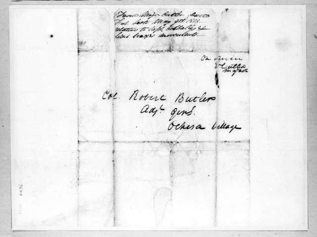Enos Cutler to Robert Butler, May 9, 1818