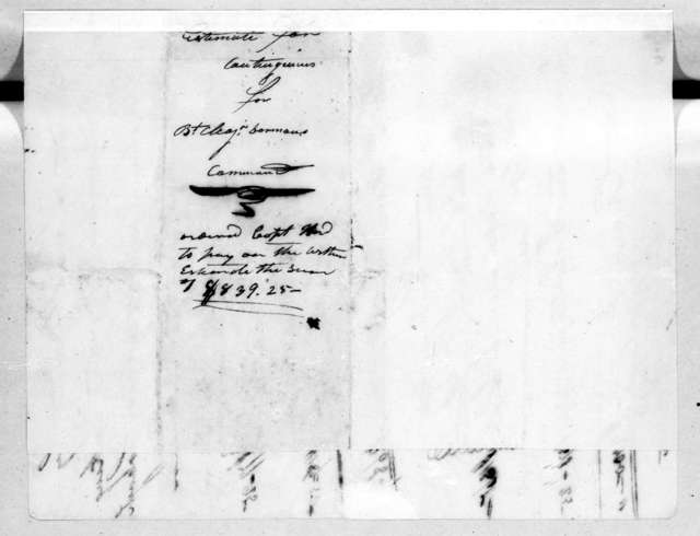 Estimate for construction of a military road through Alabama territory. June 30, 1818