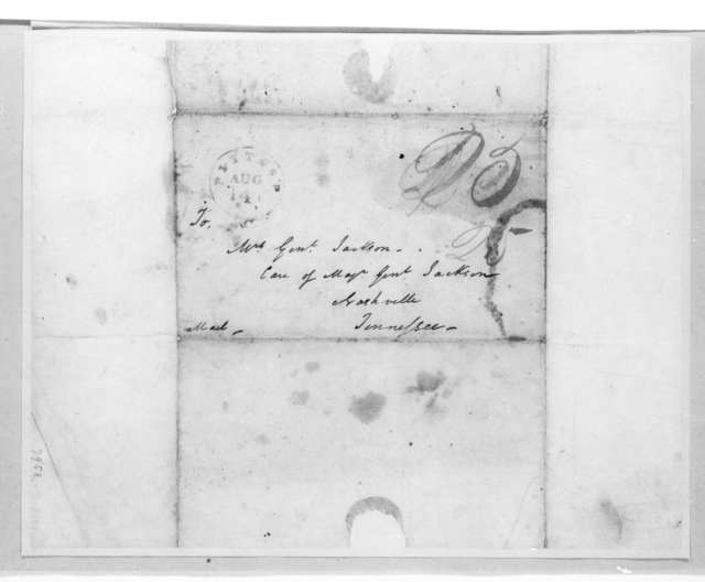 Frances D. Hayne to Andrew Jackson, August 13, 1818
