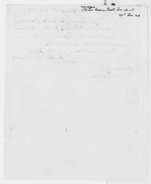 Hezekiah Niles to Thomas Jefferson, December 16, 1818, with Receipt for Weekly Register Subscription