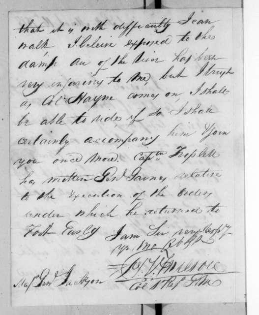 Homer Virgil Milton to Andrew Jackson, March 16, 1818