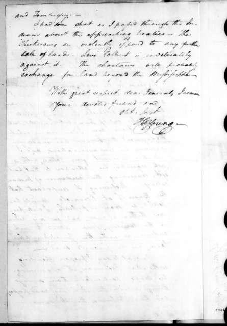 Hugh Young to Andrew Jackson, September 1, 1818