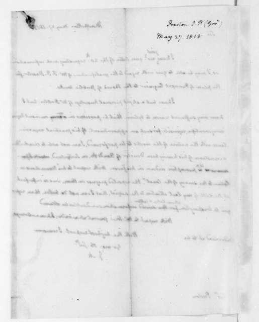 James Madison to James P. Preston, May 27, 1818.