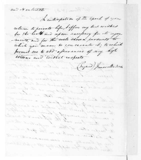 James Madison to William Plumer, August 10, 1818.