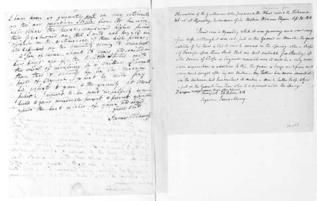 James Maury to James Madison, September 29, 1818. With Observations Oct 26, 1818.