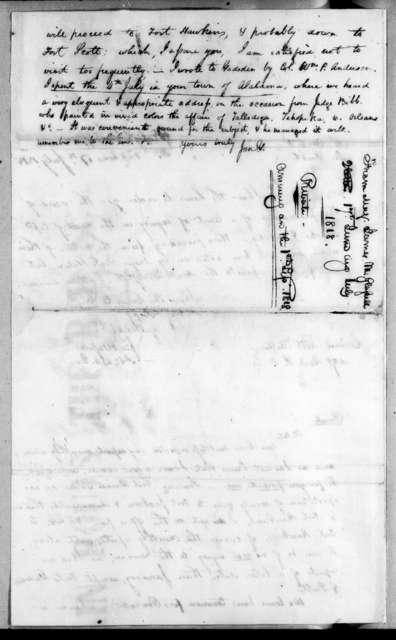 James McMillan Glassell to Robert Butler, July 17, 1818