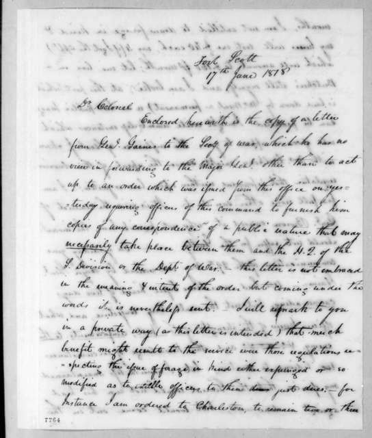 James McMillan Glassell to Robert Butler, June 17, 1818