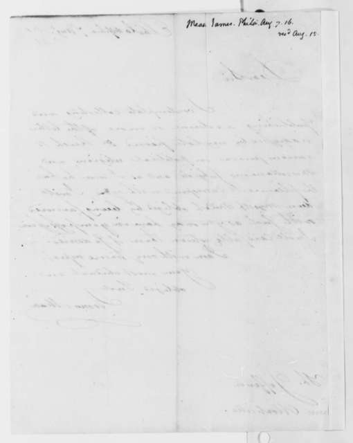 James Mease to Thomas Jefferson, August 7, 1818