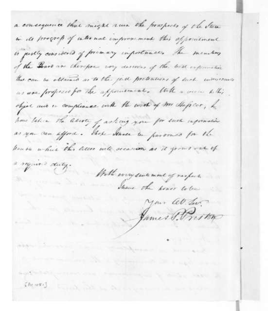 James P. Preston to James Madison, May 20, 1818.