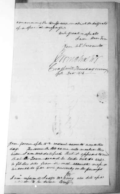 James Winchester to John Overton, December 17, 1818