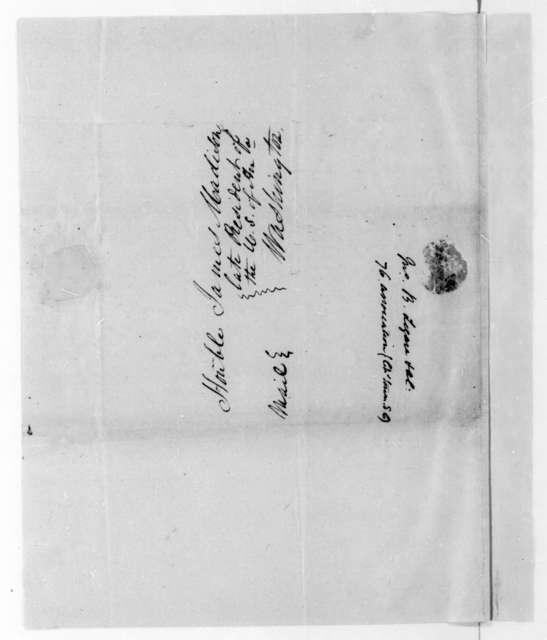 John B. Legare to James Madison, July 24, 1818.