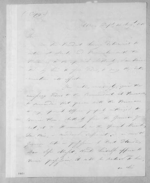 John Caldwell Calhoun to Edmund Pendleton Gaines, August 14, 1818