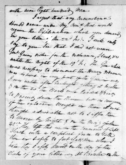 John N. McIntosh to Andrew Jackson, March 25, 1818