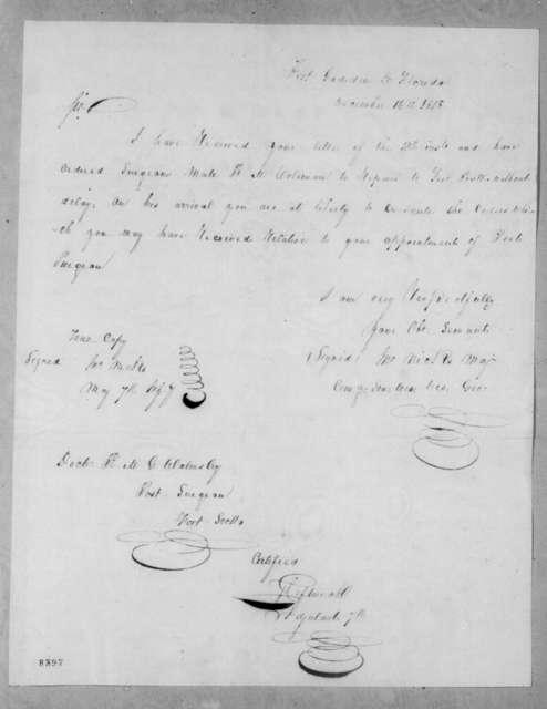 John Nicks to Robert McGregor Walmsley, December 4, 1818