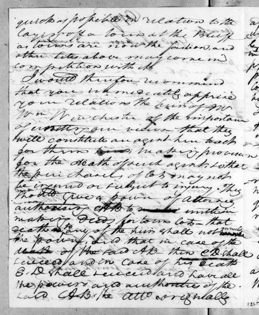 John Overton to James Winchester, November 10, 1818