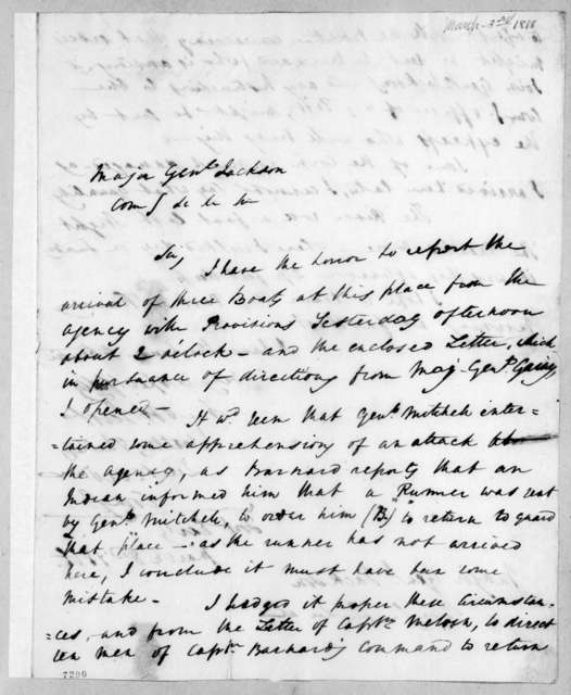 John Walters Phillips to Andrew Jackson, March 3, 1818