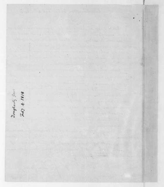 Joseph Daugherty to James Madison, February 4, 1818.