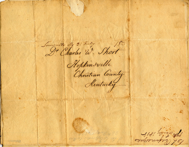 Letter from Constantine Rafinesque to Charles Wilkins Short