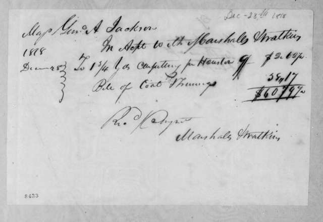 Marshall & Watkins to Andrew Jackson, December 28, 1818