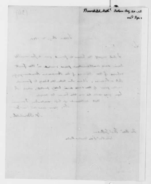 Nathaniel Bowditch to Thomas Jefferson, August 20, 1818