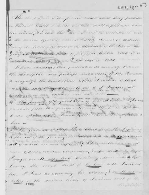 Nicholas Biddle to William Tilghman, April 6, 1818