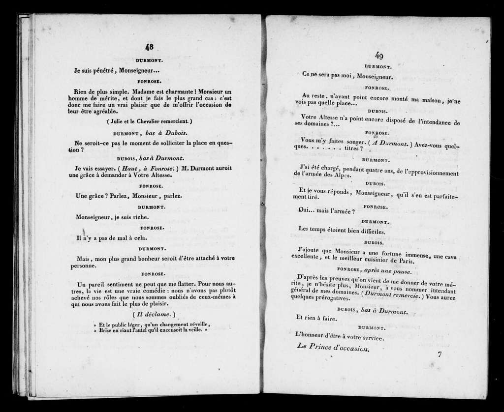 Prince d'occasion. Libretto. Libretto. French