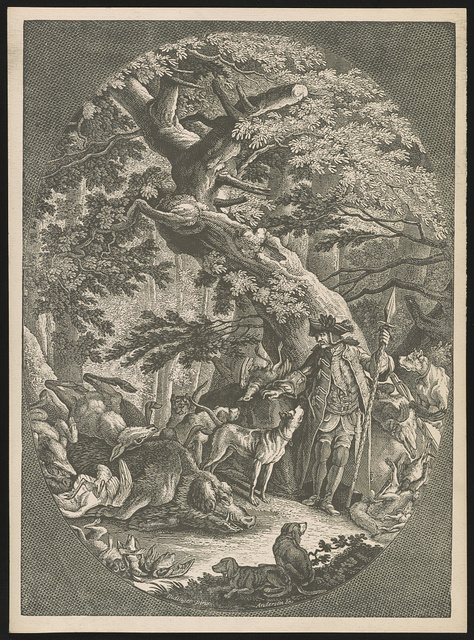 [Returning from the boar-hunt] / Ridinger pinx ; Anderson sc.