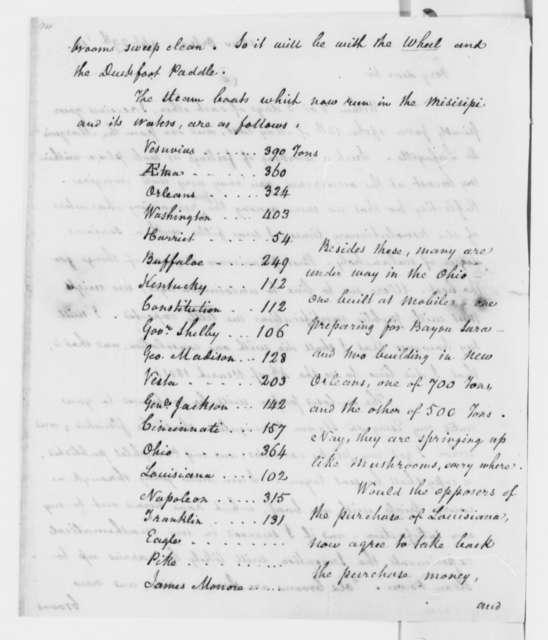 Richard Clairborne to Thomas Jefferson, April 29, 1818