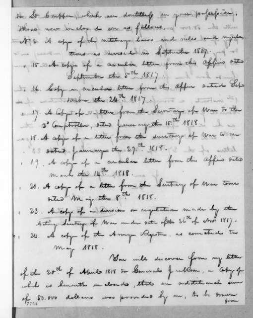 Robert Brent to John Benjamin Hogan, June 15, 1818