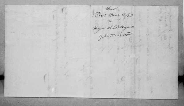 Robert Brent to John Benjamin Hogan, June 18, 1818