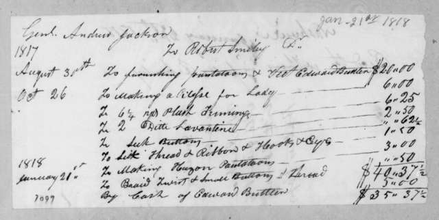 Robert Smiley to Andrew Jackson, January 21, 1818