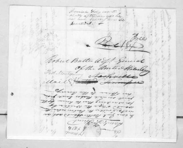 Samuel F. Hunt to Robert Butler, March 17, 1818