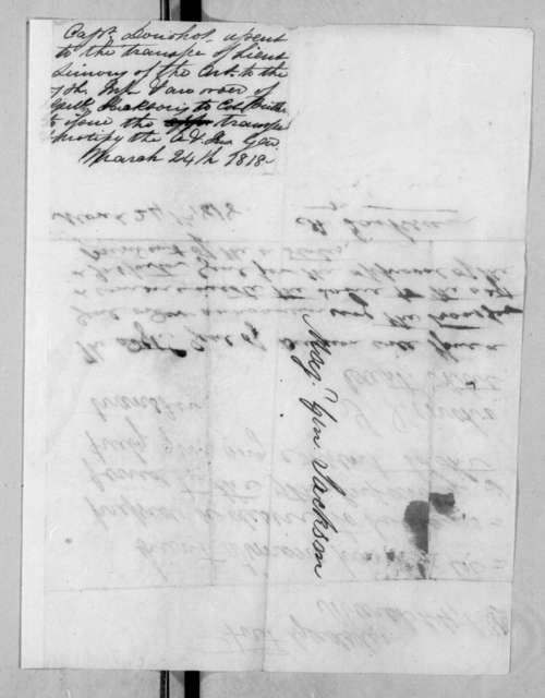 Sanders Donoho to Andrew Jackson, March 24, 1818
