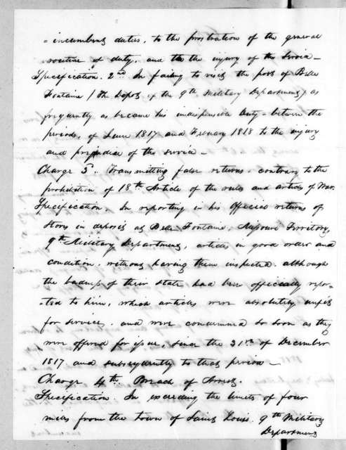 Talbot Chambers to Eli B. Clemson, October 12, 1818