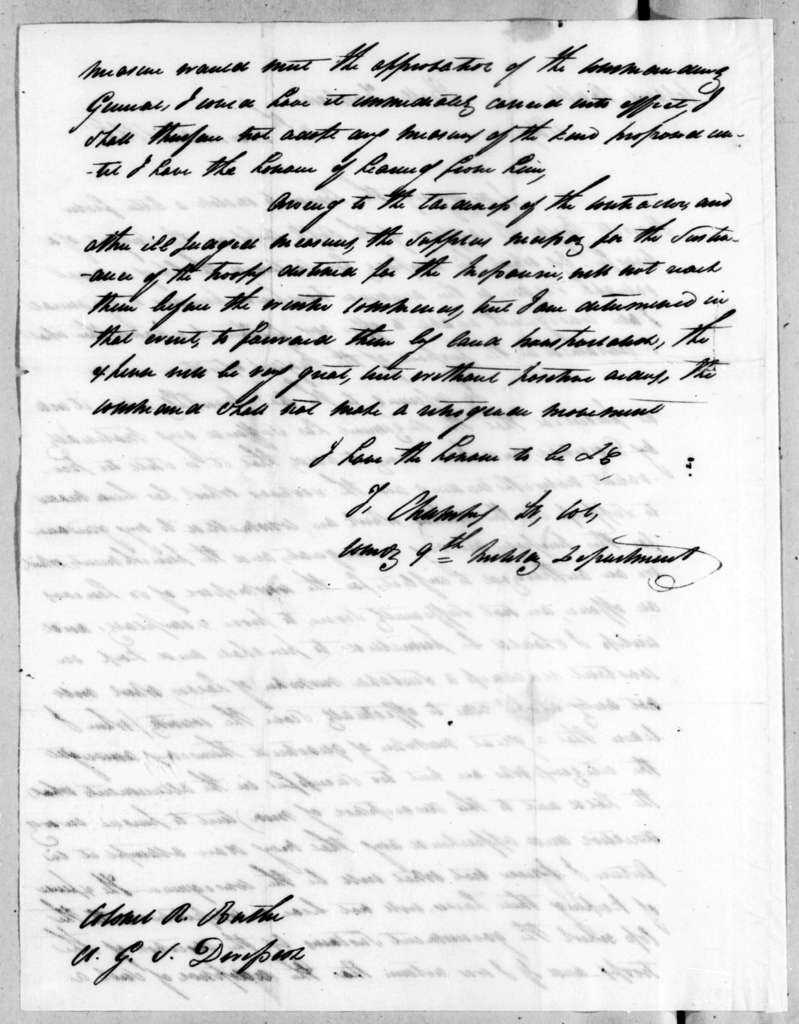 Talbot Chambers to Robert Butler, November 4, 1818
