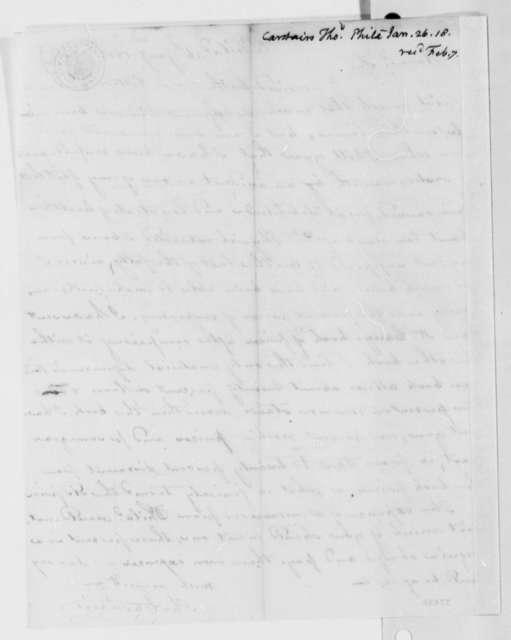 Thomas Carstairs to Thomas Jefferson, January 26, 1818