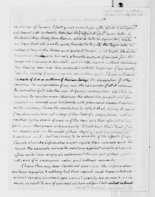 Thomas Jefferson to Antonio Dugnani, February 14, 1818