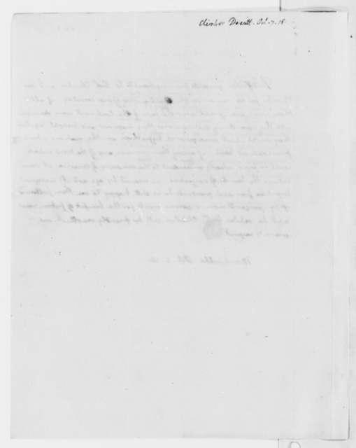Thomas Jefferson to Dewitt Clinton, October 8, 1818