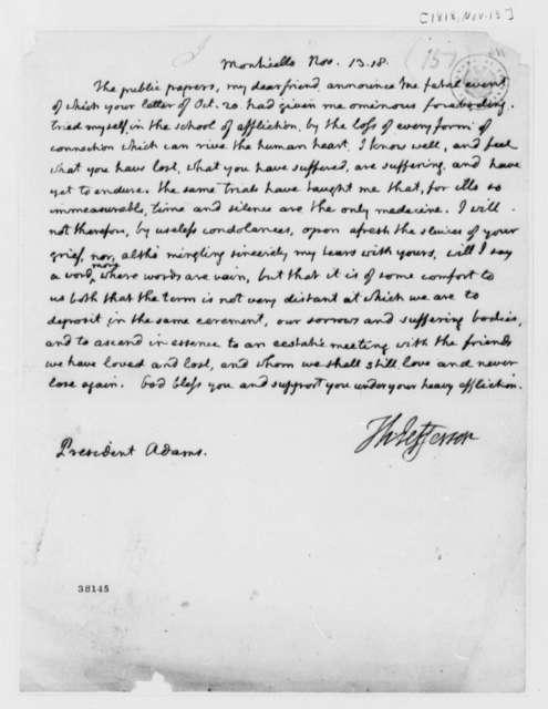 Thomas Jefferson to John Adams, November 13, 1818