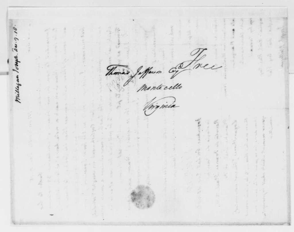 Thomas Jefferson to Joseph Milligan, December 9, 1818, with List of Books