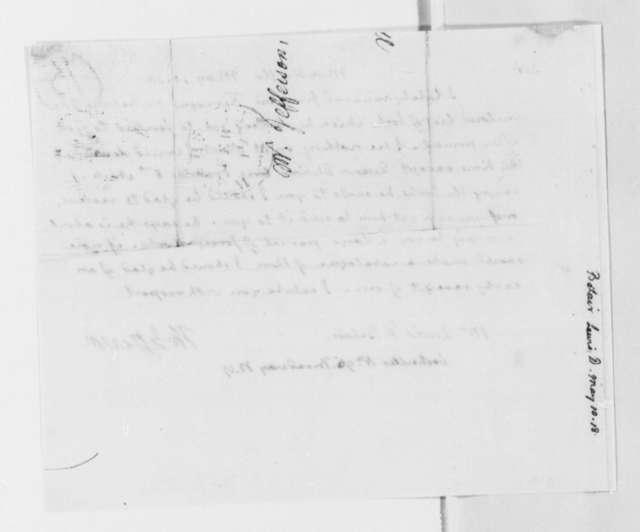 Thomas Jefferson to Lewis D. Belair, May 10, 1818