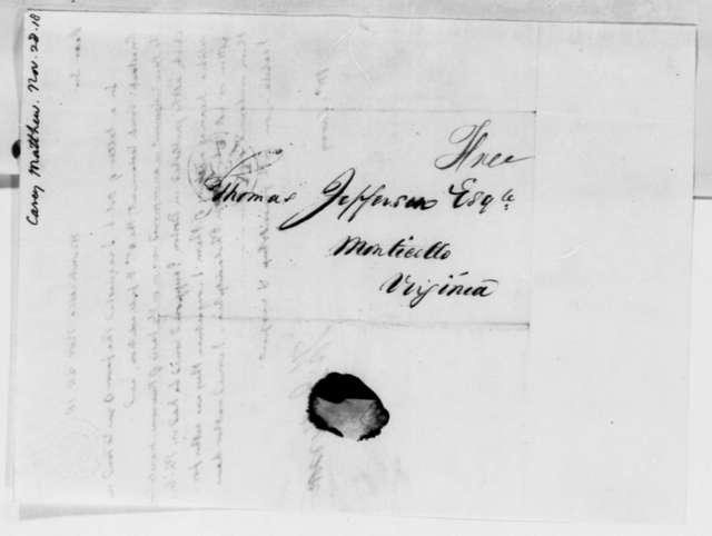 Thomas Jefferson to Matthew Carey, November 28, 1818