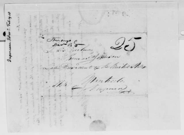 Thomas Jefferson to Peter S. du Ponceau, February 19, 1818