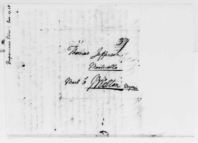 Thomas Jefferson to Peter S. du Ponceau, January 17, 1818