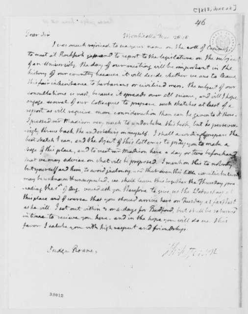 Thomas Jefferson to Spencer Roane, June 28, 1818