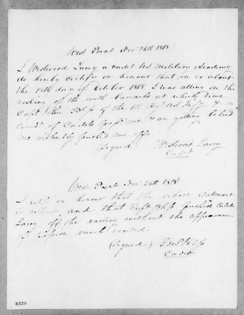 W. Lacey and E. Ross, November 26, 1818