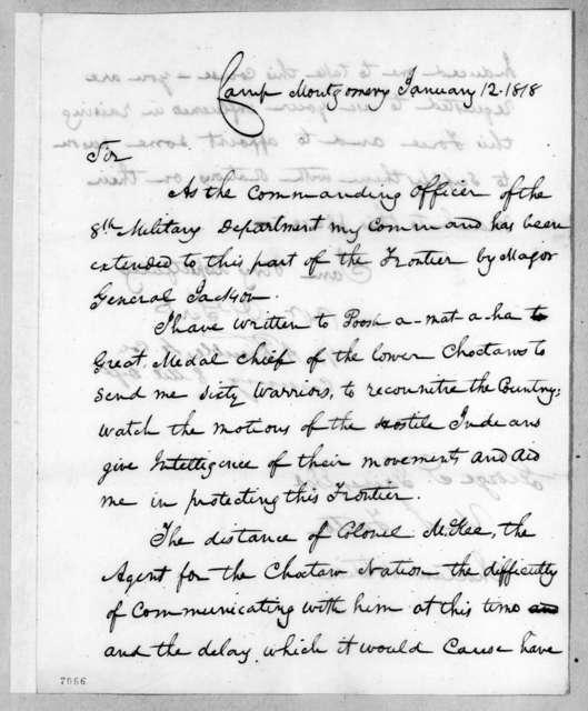 William Allen Trimble to George S. Gaines, January 12, 1818
