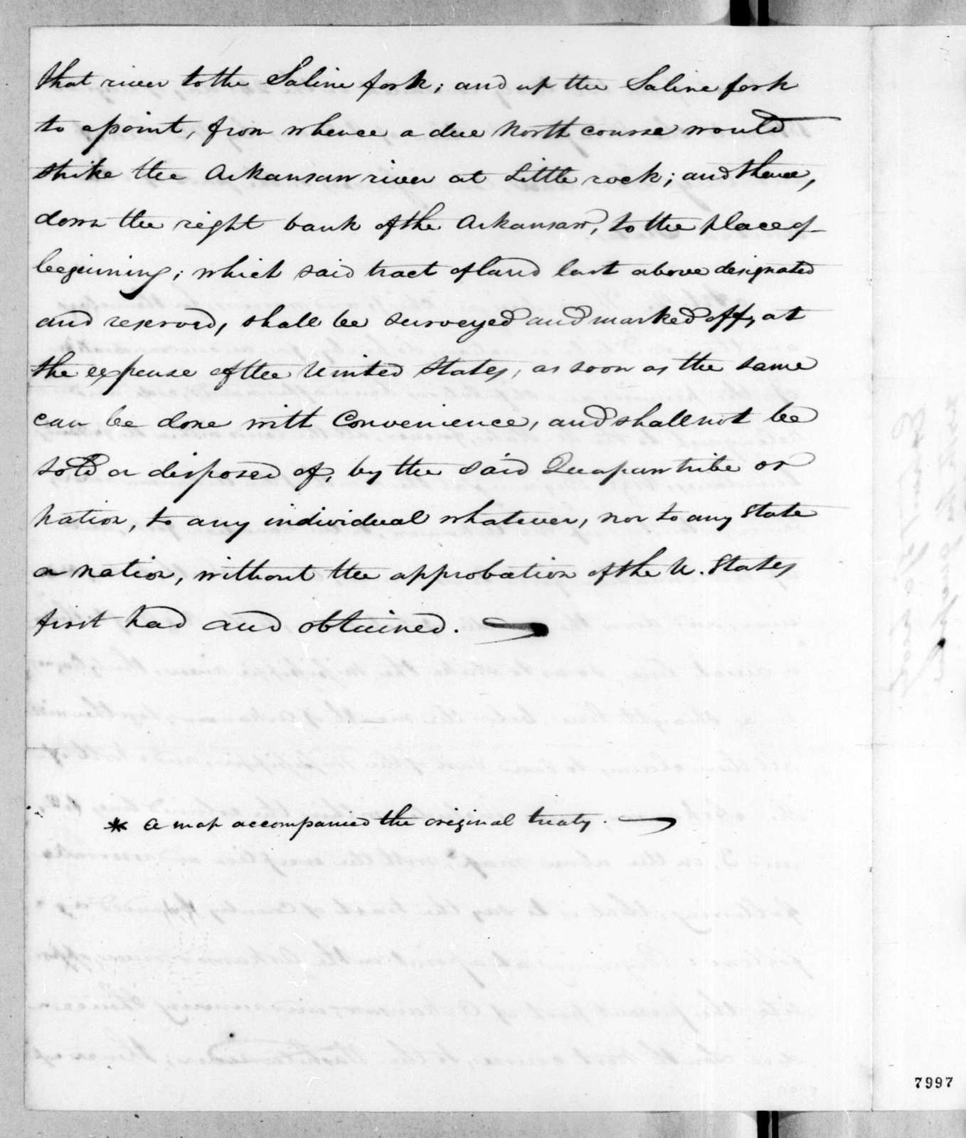 William Clark to Rene Auguste Chouteau, August 24, 1818
