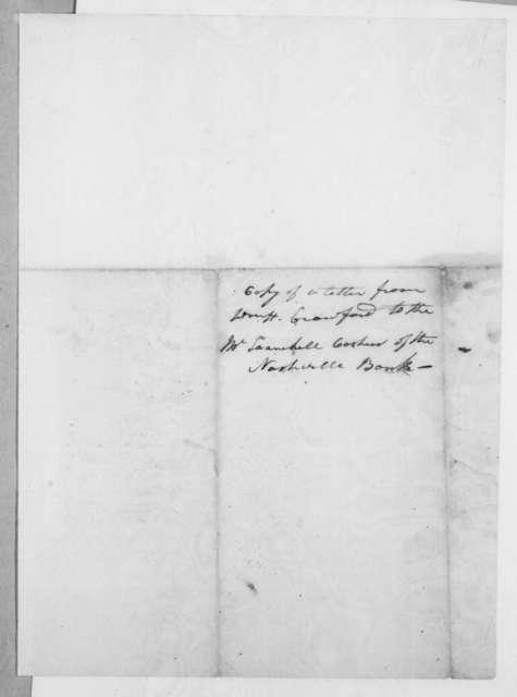 William Harris Crawford to Wilkins Tannehill, December 8, 1818