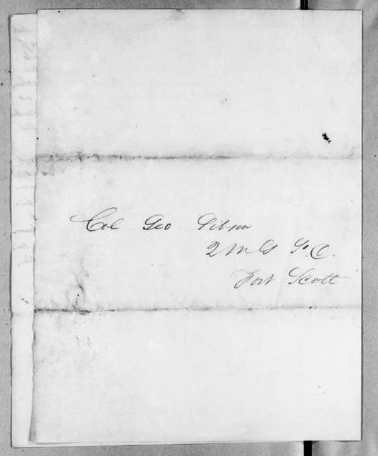 William Lord Robeson to George Gibson, March 31, 1818